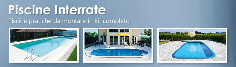 Vendita piscine interrate kit fai da te