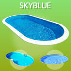 Piscine interrate in lamiera d'acciaio Skyblue in kit fai da te