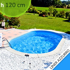 Piscine interrate in lamiera d'acciaio Skyblue Comfort